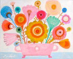Flowers in many colors  #flowers #folk flowers