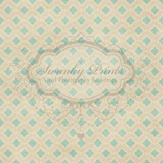 LARGE 5ft x 5ft Vinyl Photography Backdrop / Vintage Wallpaper Pattern love this great for a boy of girl!