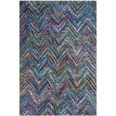 Safavieh Handmade Nantucket Blue/ Multi Cotton Rug (3' x 5')   Overstock.com Shopping - The Best Deals on 3x5 - 4x6 Rugs