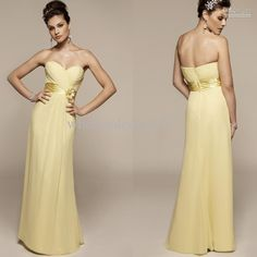 Wholesale Custom-made 2011 hot chiffon sheath sweetheart floor length sleeveless Bridesmaid/Prom/Evening Dress, Free shipping, $89.6-104.16/Piece | DHgate