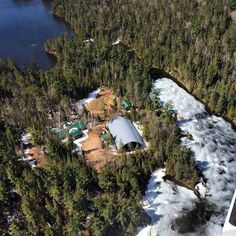 The ice is starting to melt in lake Temagami! :) #thesummeriscoming #57daystogo by canadian_adventure_camp
