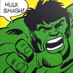 Image result for hulk smash pop art