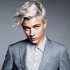 silver hair highlights for men