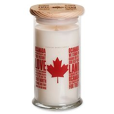 Featuring a paraffin wax candle in a jar with a laser-engraved wood lid, the Jar Candle from Canadian Living will fill your room with beautiful, subtle fragrance. Crafted in Canada and created with essential oils for a rich, true-to-life scent.