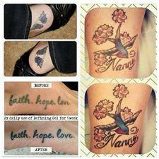 Defining Gel on Tattoos!