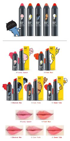 THE FACE SHOP X KAKAO FRIENDS Melting Color Lip Creamer 4g			 available at Beauty Box Korea