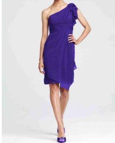David's Bridal Purple Regency Chiffon Bridesmaid Dress. Dress $85