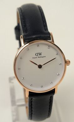 Daniel Wellington Watch Womens Sheffield Black Rose Gold, New, Gift Box, Last 1 #DanielWellington #LuxuryDressStyles