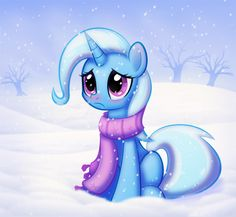 Trixie does not like the cold. by CTB-36.deviantart.com on @deviantART