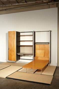 Charles  Ray Eames; Contract Storage System for Herman Miller, 1961.