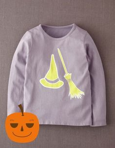 Browse our range of girls' tops & t-shirts at Boden. Pick comfy cotton tees for every day or shop fun tops with embellished designs sure to stand out. Baby Halloween Costumes, Halloween Dress, Baby Costumes, Halloween Birthday, Halloween 2018, Holidays Halloween, Mens Work Shirts, T Shirts, Boden Uk