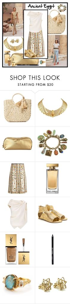 """""""Ancient Egypt Contest"""" by wildorchid21-1 ❤ liked on Polyvore featuring Hat Attack, Rodo, Sweet Romance, Alexander McQueen, Dolce&Gabbana, Roland Mouret, Yves Saint Laurent, Urban Decay, Chupi and John Brevard"""
