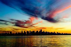 Evan Teichman – Vancouver Skyline at dawn Vancouver Skyline, Best B, Pictures Of You, British Columbia, How To Find Out, Places To Go, The Past, Canada, Weather