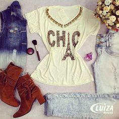 O colete jeans é super prático e garante looks casuais bem descolados.  #luizamodas #tendencia #estilo #instafashion #moda #modaparamulheres #trend #conceito #conforto #instalove #conecteseuestilo