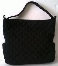 Vera Bradley Classic Black Large Shoulder Tote  VeraBradley  TotesShoppers d05c7388185c9