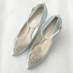 Art Deco Something Blue Wedding Shoes Great Gatsby Crystal
