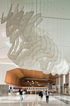 San Francisco International Airport, Terminal 2 by Gensler. #design #interiordesign #interiordesignmagazine #gensler #airport