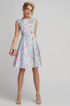 Bawełniana sukienka w kwiaty Vintage, Dresses, Style, Fashion, Vestidos, Clothing Sketches, Gowns, Swag, Moda