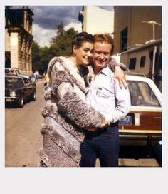 Sean Young with director Ridley Scott behind the scenes during filming of #BladeRunner (1982)