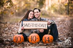 Fall Engagement Session, Save the Date Ideas, Pumpkin Save the Dates, South Jersey Engagement Session, Engagement Session Ideas; Photo Courtesty of: www.feminaphoto.com