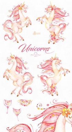 This second part of Magical set of Unicorns. Perfect graphic for invitations, greeting cards, frames, posters, quotes and more.  -----------------------------------------------------------------  INSTANT DOWNLOAD Once payment is cleared, you can download your files directly from your Etsy account.  -----------------------------------------------------------------  7 x Images in PNG with transparent background and JPG Wide size approx: 12 - 4 inch (30-10cm), 3600 - 1200px  300DPI, RGB  All…