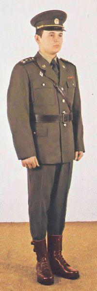 1980 pattern Czechoslovak People's Army (ČSLA) officers' summer service uniform.