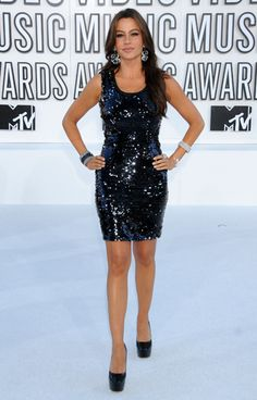 Sofia Vergara on the red carpet at the 2010 MTV Video Music Awards in Los Angeles.