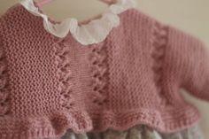 Patron cuerpo para faldón primera puesta en español | Etsy Baby L, Spanish Style, Baby Knitting Patterns, Lily, Crochet, Sweaters, Google, Fashion, Crochet Dresses