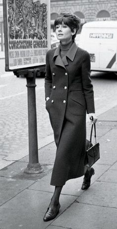 1970: coat: Valentino Couture. Photos: Audrey Hepburn's Roman Street Style | Vanity Fair