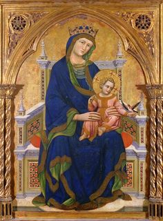 Guariento di Arpo - Virgin and Child enthroned, 14th century. The Courtauld Institute of Art.