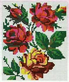 123 Cross Stitch, Cross Stitch Flowers, Cross Stitch Designs, Cross Stitch Embroidery, Cross Stitch Patterns, Christmas Embroidery Patterns, Embroidery Patterns Free, Owl Quilt Pattern, Crotchet Blanket