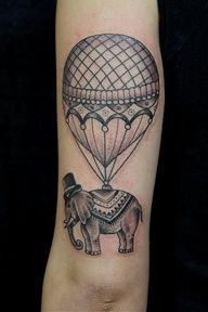 vintage hot air balloon tattoo - Google Search