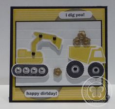 bager in kamion Card Making Designs, Card Designs, Sorry Cards, Card Making Techniques, Kids Cards, Baby Cards, Masculine Cards, Scrapbook Cards, Scrapbooking Ideas