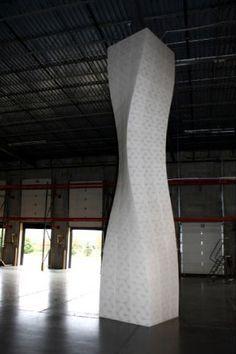 This unique has the ability to emit colored light through. Interior Columns, Architectural Columns, Architectural Features, Column Structure, Column Design, Parametric Design, Commercial Interiors, Architecture Design, Building Architecture