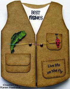 Karen's Kreative Kards: Guy's Fishing Vest Card