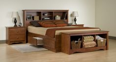 Looking for Prepac Monterey Cherry Queen Bookcase Platform Bed 3 Piece Bedroom Set ? Check out our picks for the Prepac Monterey Cherry Queen Bookcase Platform Bed 3 Piece Bedroom Set from the popular stores - all in one. Platform Bed With Drawers, Bed Frame With Drawers, Bed Frame With Storage, Bed Platform, Platform Bedroom, Bed Drawers, Small Bedroom Furniture, Bed Furniture, Furniture Design