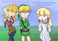"I always thought this would happen! ""How could you, Link?! Zelda is waiting for you!"""
