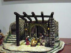 Christmas Crib Ideas, Christmas Nativity, Christmas Decorations, Diy Crib, Architectural Sculpture, Christmas Villages, Ideas Para, Portal, Cribs