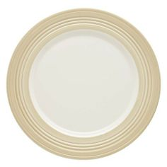 Lenox Tin Can Alley Four Degree Accent Plate, Khaki by Lenox. $12.99. Crafted of Lenox bone China. Diameter measures 9-inch. Microwave and dishwasher safe. A wash of khaki provides a colorful accent on this white-bodied accent plate. Also available in blue.