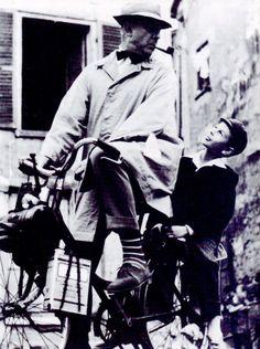 """Jacques Tati en """"Mi Tío"""" (Mon Oncle), 1958"""
