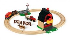 Farm Railway Set #BRIO #Toys #RailwaySet
