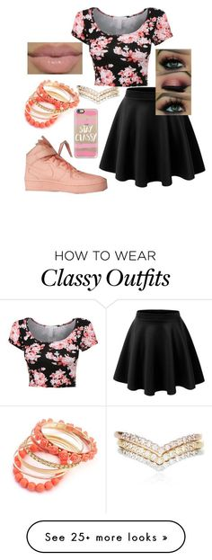 """""""Outfit #237"""" by i-love-pandas-993 on Polyvore featuring Accessorize, LE3NO, NIKE, Ruby Rocks, MAC Cosmetics and Casetify"""