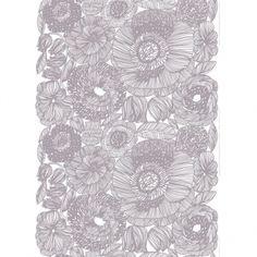 Marimekko Kurjenpolvi fabric, grey   Marimekko fabrics   Textiles   Finnish Design Shop