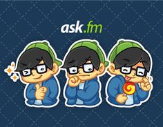 """Check out new work on my @Behance portfolio: """"ASKfm Stickers"""" http://be.net/gallery/42785659/ASKfm-Stickers"""