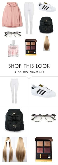"""Untitled #104"" by sadiecoda on Polyvore featuring Topshop, adidas, NOVICA, ZeroUV, Tom Ford and Jimmy Choo"