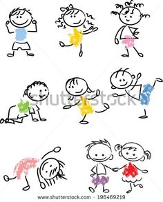 Find Cute Happy Cartoon Doodle Kids stock images in HD and millions of other royalty-free stock photos, illustrations and vectors in the Shutterstock collection. Thousands of new, high-quality pictures added every day. Happy Cartoon, Cartoon Kids, Easy Drawings For Kids, Art For Kids, Fabric Painting On Clothes, Stick Figure Drawing, Cute Doodle Art, Bullet Journal Mood, Graffiti Drawing