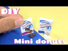 DIY Miniature Donuts - Hostess Inspired Donettes - Dollhouse Food - YouTube