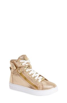 MICHAEL Michael Kors 'Ivy Rory' High Top Sneaker (Walker, Toddler, Little Kid & Big Kid) available at #Nordstrom