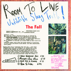 THE FALL Room To Live (Superior Viaduct) LP street date December 2, 2016 https://midheaven.com/item/room-to-live-by-the-fall
