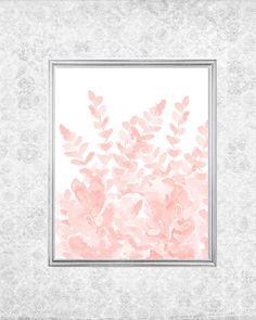 Pale Pink Fern Print Fern Garden 8x10 Watercolor Fern Print